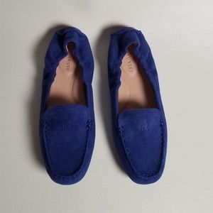 Taryn Rose Cobalt Blue Suede Driving Shoes
